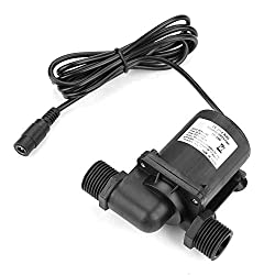 24V High Hydraulic Head Submersible Water Pump, DC Brushless Mini Boost Water Pump for Water Heater