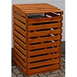PROMADINO Mülltonnenbox, für 1x120 l aus Holz, B/T/H: 68/63/111 cm braun