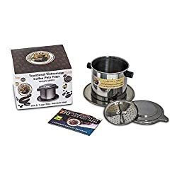 Vietnamese Coffee Filter Phin, Stainless Steel Coffee Filter, Best Coffee Dripper for Office, Outdoor or Single Serve Pour Over Coffee - size 8