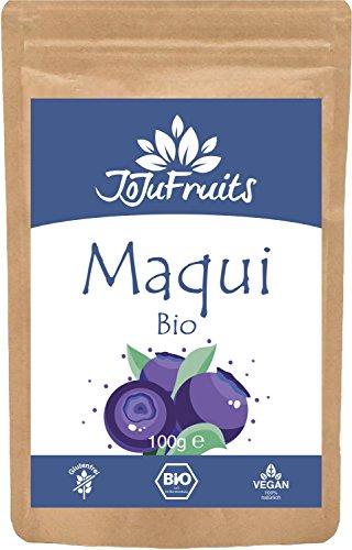 JoJu Fruits - Bio Maqui Pulver (100g) - Superfood aus Maqui Beeren