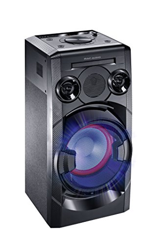 Mac Audio MMC 850 | High Power Sound System mit Bluetooth, USB, CD-Player und FM-Tuner | Integrierter DJ Modus, Party Mode Ausgang - schwarz