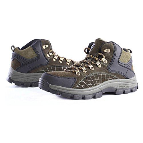 FLYGAGA Herren High-top Lace-up Wildleder Wasserdicht Atmungsaktiv Outdoor Stiefel Sport Trekking Trail Wandern Schuhe Armeegrün