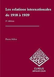 Les relations internationales de 1918 à 1939