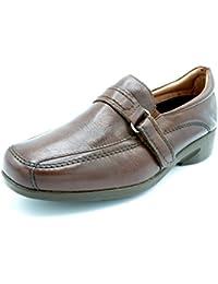 Zapatos cómodos mujer PITILLOS - Negro combinado con Coco, tipo Mercedes - 2403 - 8 (41, negro)