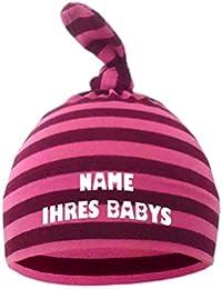 Baby Mütze bedruckt mit dem NAMEN des Kindes / in 9 Farben