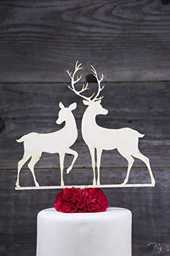 storte Topper Woodland Paar Boho rustikale Scheune Buck und Doe Hunter Dekorationen Dekor Tabelle ()
