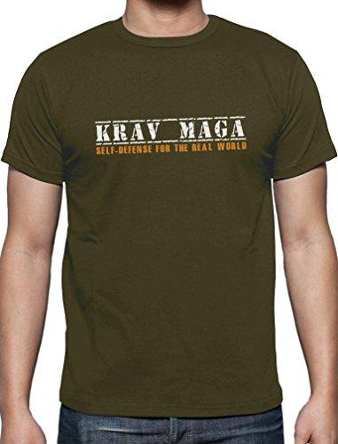 Krav Maga - Shirt Self-Defense for the Real World T-Shirt Olivgrün
