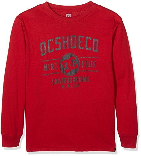 DC Shoes-Maglietta a maniche lunghe recupero schermo, colore: rosso, taglia: 42/L