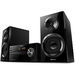 Microchaîne Philips BTM2560/12 Microchaîne Bluetooth (Bluetooth, Prise USB Direct, CD MP3, Tuner FM, 70 Watts) Noir