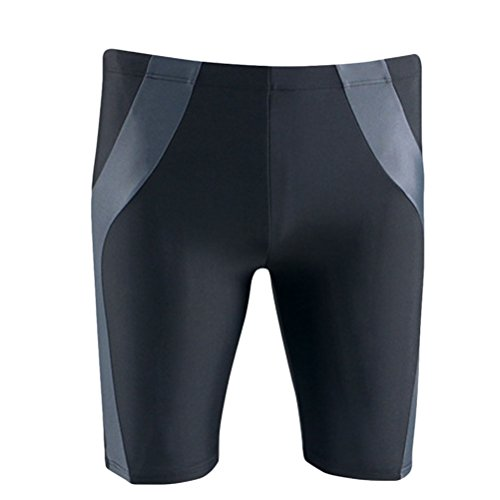 Zhhlinyuan Fashion Multi-color Mens Swimming Trunks Surfing Swimwear Beach Shorts 3020# Black&Gray