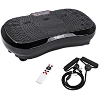 TIMMY Vibration Plate Vibration Platform Body Shaper Oscillating Plate Ultra Slim Vibrating Trainer Massage Fitness Machine, 99 Speed Levels with LCD Display Remote Control, 150 kg Load Capacity Black