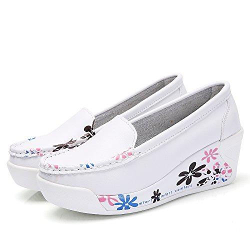KHSKX-Le Printemps Et LAutomne 4.5Cm Chaussures Blanches La Petite Bouche Pente Documentaire Des Chaussures À Semelles De Chaussures Les Chaussures De Confort Mère! Thirty-six