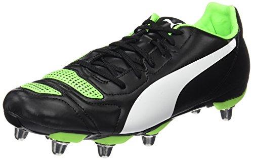 Puma Herren EvoPower 4.2 Rugby H8 Rugbyschuhe, Schwarz Black White-Green Gecko 07, 43 EU