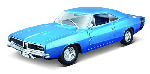 Maisto- 1969 Dodge Charger R/T 31387OR, Color Azul