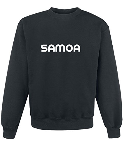 Felpa Samoa - Print Your Name Black