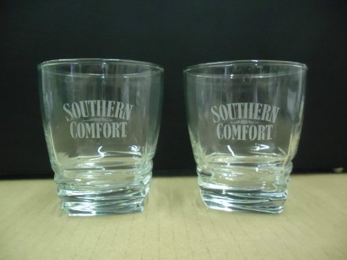 set-of-2-southern-comfort-liqueur-square-base-lowball-rocks-tumbler-glasses-by-southern-comfort-liqu