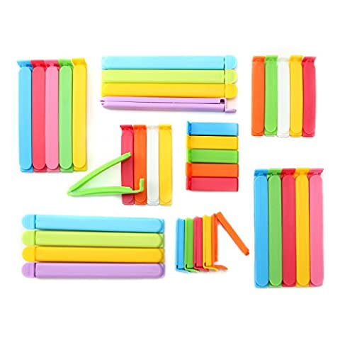 ANPHSIN Set of 38 Plastic Sealing Clips for Food and Snack Bag(6 CM, 9CM, 12.7CM, 16 CM)