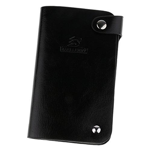 Trifold PU-Leder Herren Geldbörse Brieftasche Geldbeutel Kreditkartenetui Kartenetui - Schwarz, one size (Tri-fold Kreditkarte)