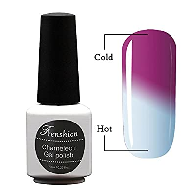 Frenshion 7.3ml Chameleon Varnish Thermal Temperature Color Changing Gel Nail Polish Soak Off UV LED Nail Lacquer