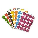 SUPVOX Bunte Kreis Aufkleber Selbstklebender für Büro Geschäft 70 Stücke