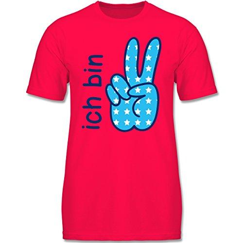 Geburtstag Kind - Ich Bin 2 Junge Zeichensprache - 92 (1-2 Jahre) - Rot - F140K - Jungen T-Shirt (T-shirts Viele 2)