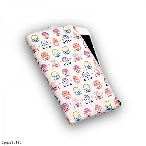 Universal Handy Tasche Cover Case Hülle Etui Schutz Schutztasche Owls White - L - Für kompatible Samsung Modelle - (Bulk)