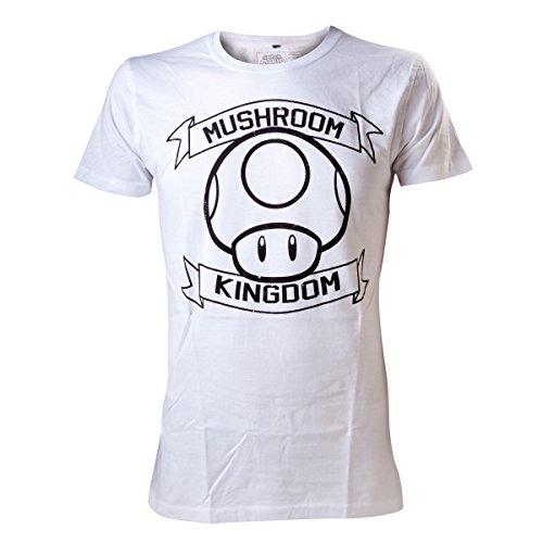 Nintendo T-Shirt -XL- Mushroom Kingdom, weiss weiß