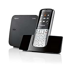 Gigaset SL400A High End Schnurlostelefon (4,6cm (1,8 Zoll) TFT-Farbdisplay, Anrufbeantworter, USB-Anschluss, Bluetooth)metall / schwarz