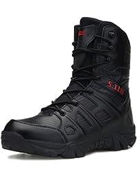 MERRYHE Botas Militares De Cordones con Cordones Botas Tácticas Especiales De Seguridad para Hombres Botas Tácticas De Policía para Escalar Zapatos De Escalada,Black-46