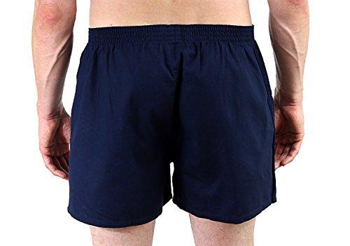 Fabio Farini 4er-Pack gewebte Boxershorts Webboxer aus 100% Baumwolle, verschiedene Farb-Sets set 7