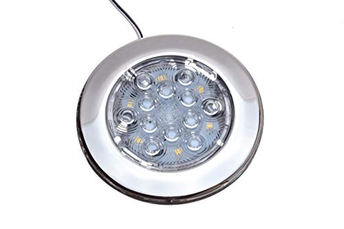 Attwood 6340ss7 LED ronde intérieur/extérieur acier inoxydable, 102 mm