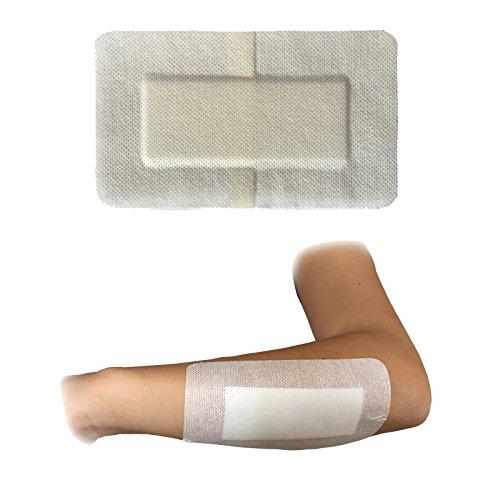 50x steropore 9cm x 15cm Premium Medical Grade 100% Steril groß Wunde Schnitt Verbrennungen Pflaster Weiß (Sterile Klebestreifen)