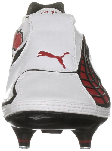 Puma , Football Studs mixte adulte Blanc - White-pompeian Red-black