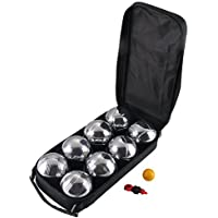 AllRight 8 French Ball Stainless Steel Boules Garden Beach Game Outdoor Carry Case