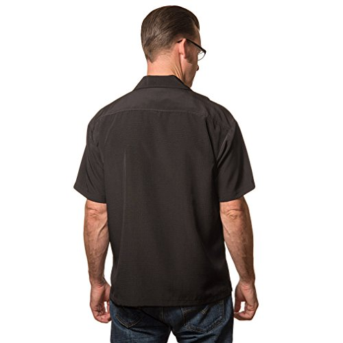 Steady Clothing Herren Vintage Bowling Hemd - Bettie Page Untamed Bowling Shirt Schwarz