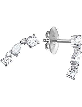 Esprit Damen-Ohrhänger Diadem 925 Silber rhodiniert Zirkonia weiß Rundschliff 1.5 cm - ESER92990A000