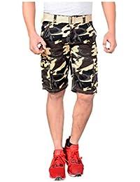 Krystle Boy's 6 Pocket Cotton Army Shorts
