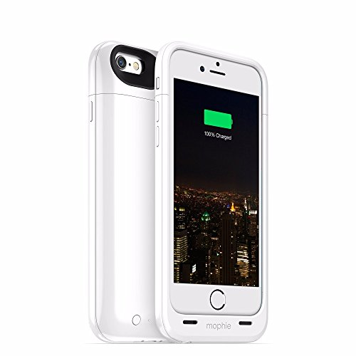 Mophie Juice Pack Plus Rechargeable External Battery Case (3,300mAh) für Apple iPhone 6 weiß (Mophie Case Iphone 6)