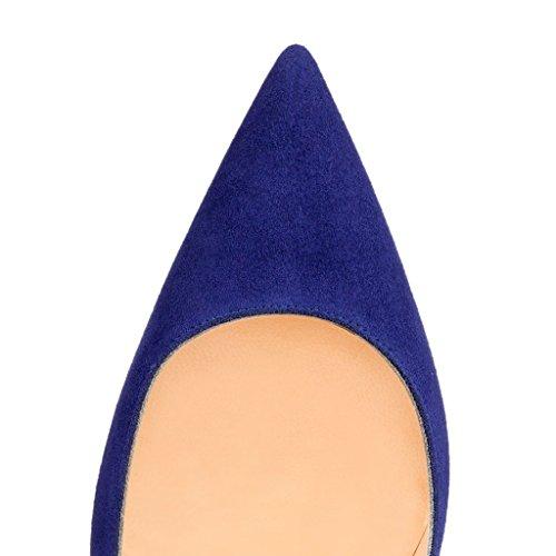 EKS , Escarpins femme Bleu - Blau-Wildleder