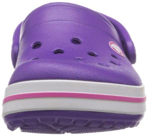 Crocs Band K, A bout rond mixte enfant Rose (Neon Purple/Neon Magenta)