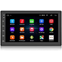 KKXXX S6 Android 2 DIN Car Stereo 1 GB de RAM 16 GB ROM Quad Core GPS de navegación Radio Auto Am/FM Mirror Link Control de Volante BT Manos Libres Call Music Video 1080P HD Touch Screen