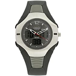 Umbro U827 Gents Watch Quartz Analogue and Digital Grey Dial Grey Plastic Strap