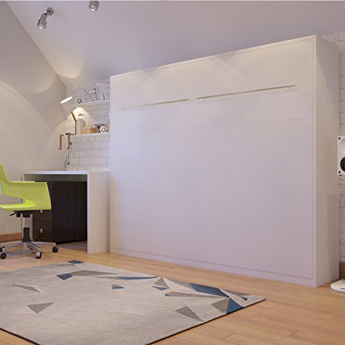 Schrankbett SMARTBett Klappbett Querbett 140cm, horizontal ausklappbar Weiß - 2