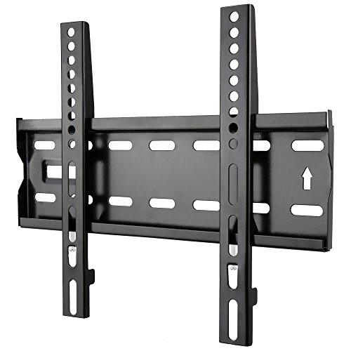 LML TV Wall Mount Bracket Low Profile for Most 14-43 inch Up to Vesa 300x200 4K HD LED LCD Plasma Vizio Sony LG Outdoor Computer Monitor 24 26 30 32 36 40 42 43 inch Smart Loading 55lbs