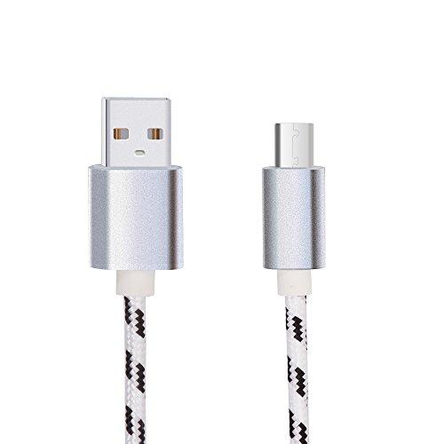 Ferpas 1m USB C Kabel für Blackview BV9000 / BV9000 Pro / BV8000 Pro / BV9500 / BV9500 Pro - Verwicklung-freies Kabel, Nylongeflecht Design Type C Ladekabel