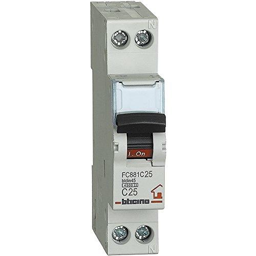 Bticino fc881C25btdin Automatische Sicherungen Abb Leitungsschutzschalter 1p N Curve C, 25A
