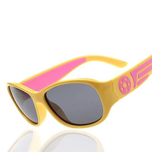 SYR TR90 polarisierende polarisierte Sonnenbrille für Kinder,Yellow