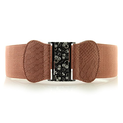 Cinture donna/Diamante crepa nella cintura elastica/Amicone Trapani flash-A