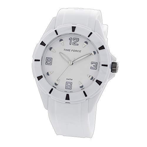 Time Force Reloj Analógico para Mujer de Cuarzo con Correa en Caucho TF4152L02