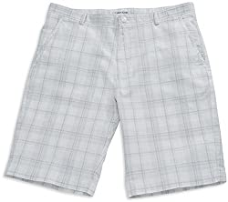 Calvin Klein Mens White Plaid Shorts (40)